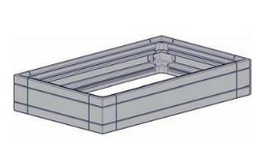 Case Quarto 1U/150x250, lack.,