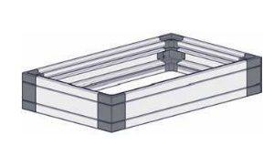 Case Quarto 3U/150x250, Anodiz