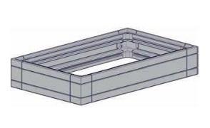 Case Quarto 3U/150x250, lack.,